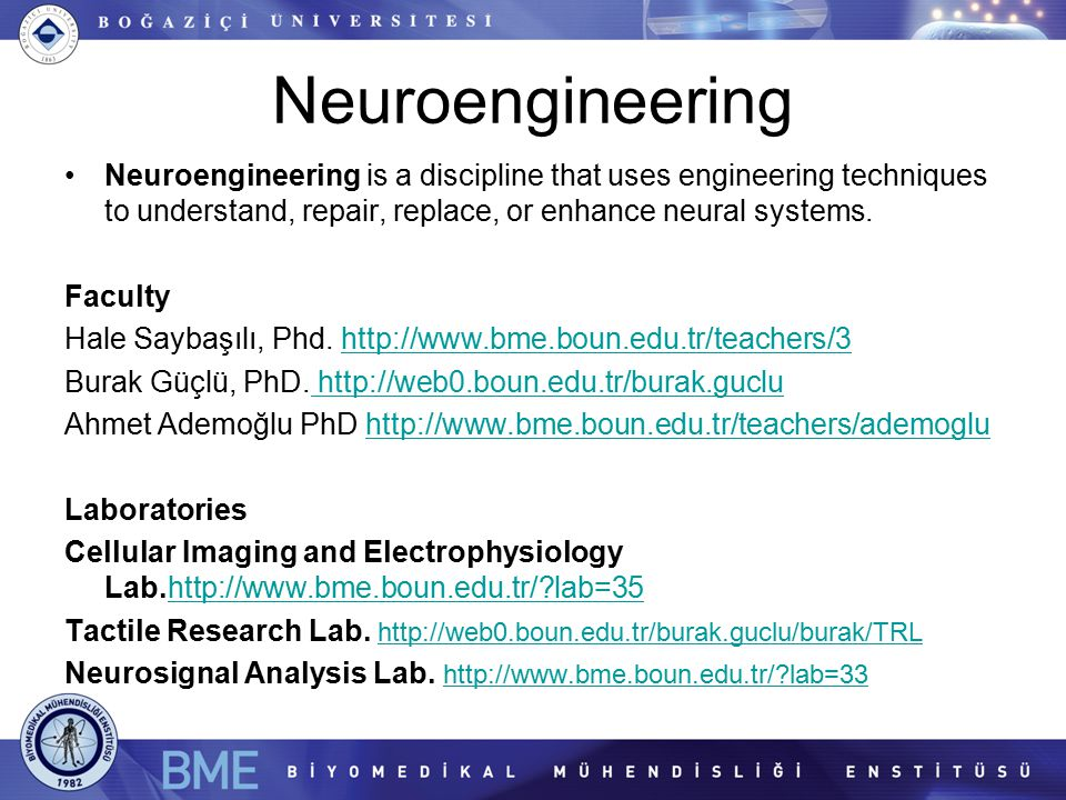 Neuroengineering Neuroengineering is a discipline that uses engineering techniques to understand, repair, replace, or enhance neural systems.