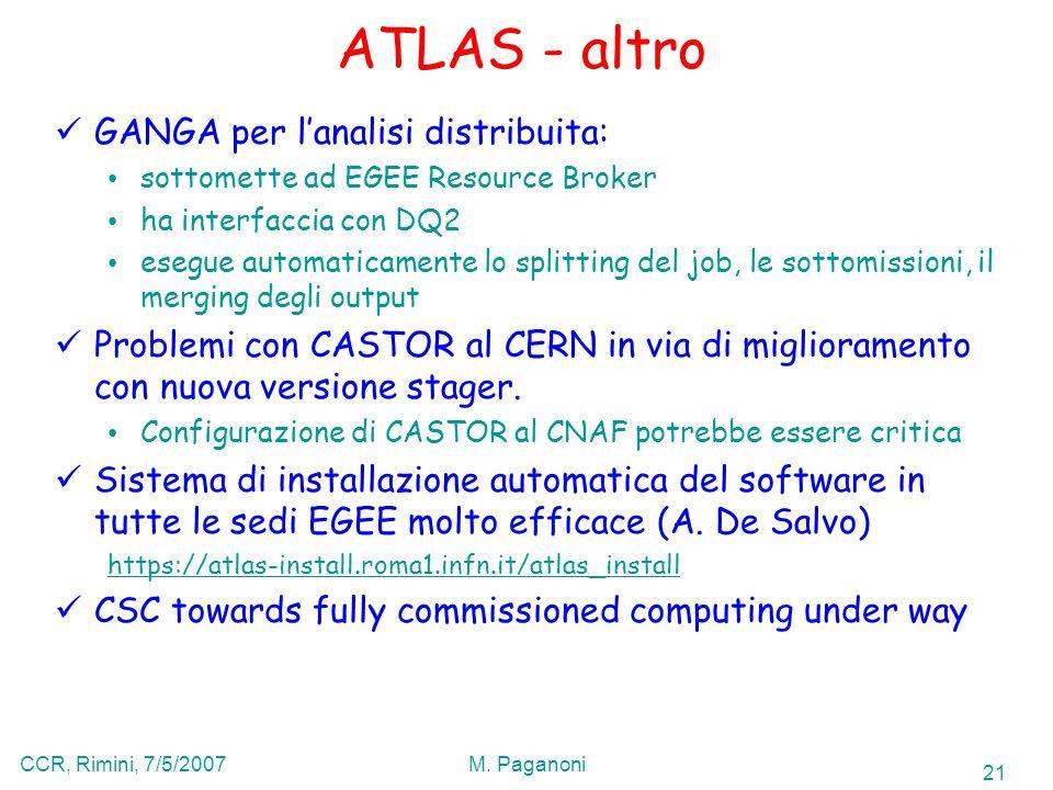 21 CCR, Rimini, 7/5/2007M.