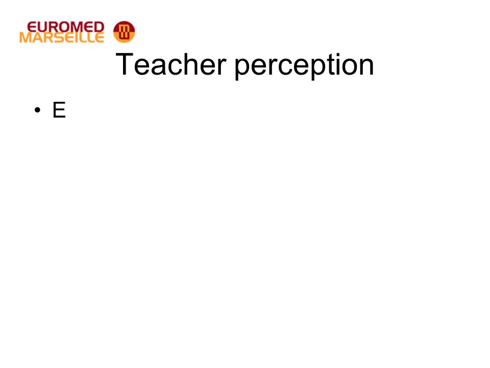 Teacher perception E