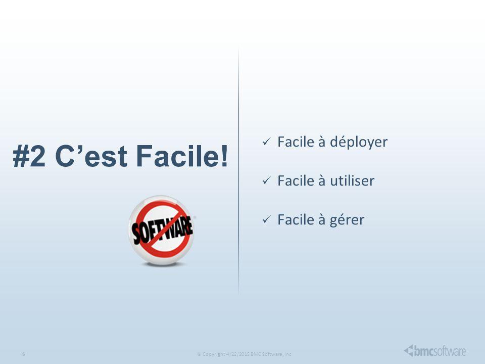 © Copyright 4/22/2015 BMC Software, Inc6 #2 C'est Facile.