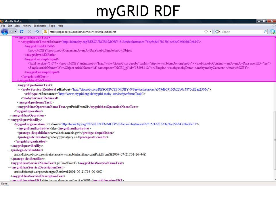 myGRID RDF