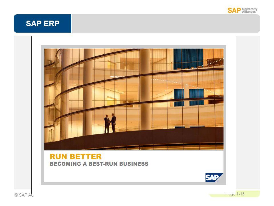 SAP ERP Page 1-15 © SAP AG