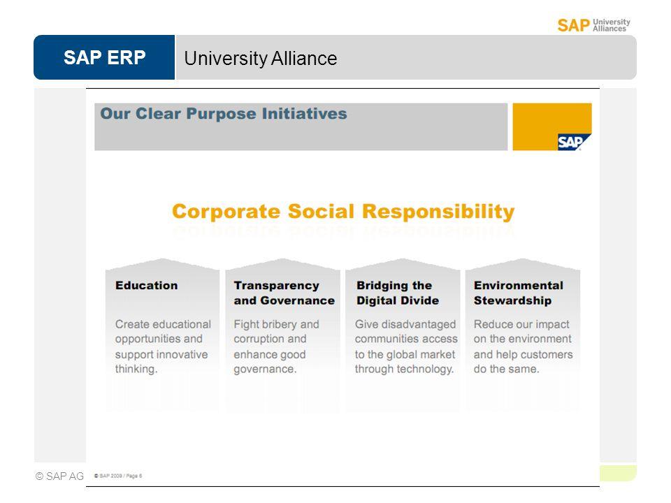 SAP ERP Page 1-3 © SAP AG University Alliance