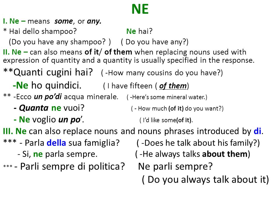 NE IV.Ne usually directly precedes the conjugated verb.
