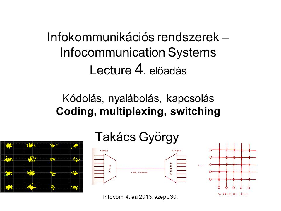 Infocom.4. ea 2013. szept. 30.2 Where we are now in study (tele-, info-) communications systems.