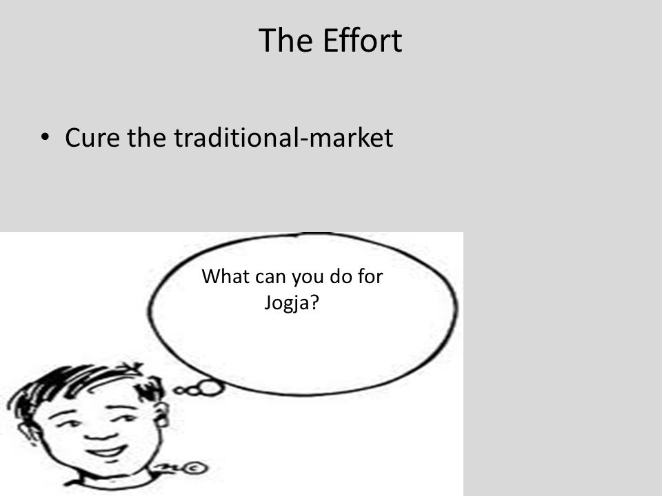 The Effort Cure the traditional-market What can you do for Jogja?