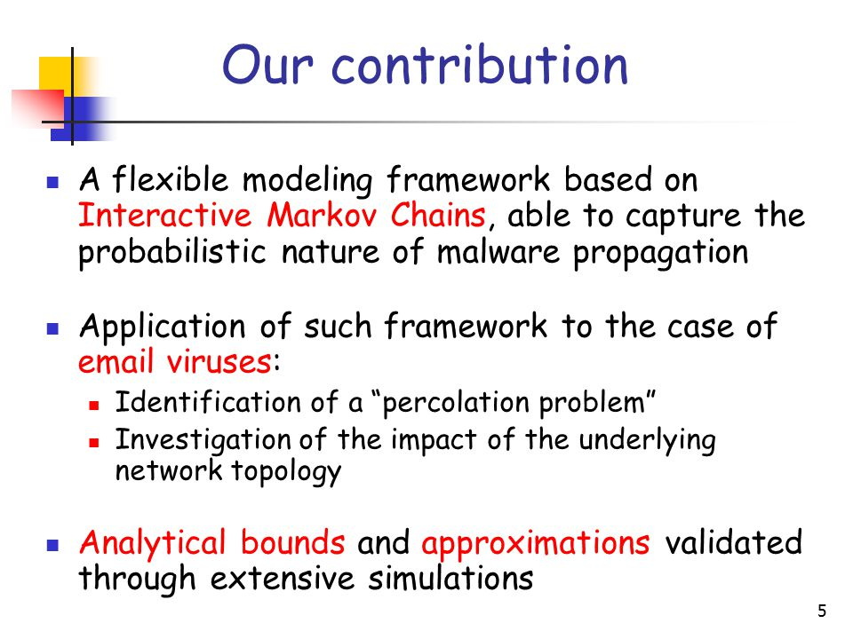 6 The Interactive Markov Chain (IMC) Modeling Framework  Global network structure...