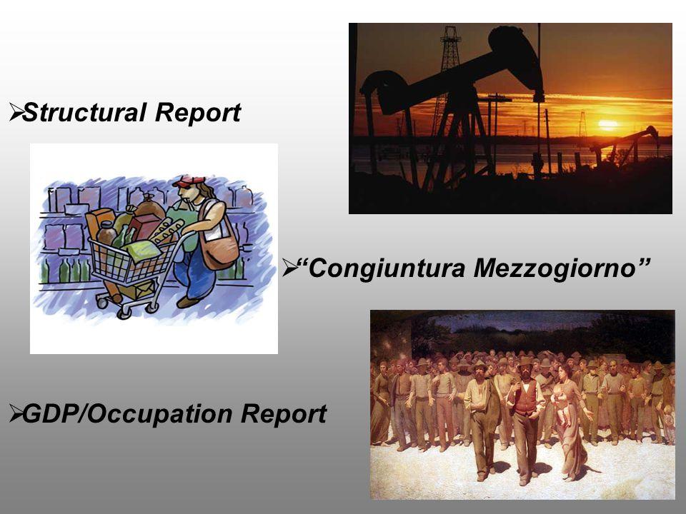  Structural Report  Congiuntura Mezzogiorno  GDP/Occupation Report