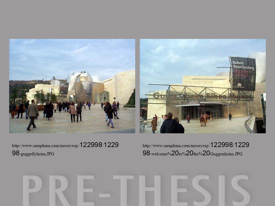 http://www.saraphina.com/moseyesp/122998/1229 98-guggellyheim.JPG http://www.saraphina.com/moseyesp/122998/1229 98-welcome%20to%20the%20Guggenheim.JPG