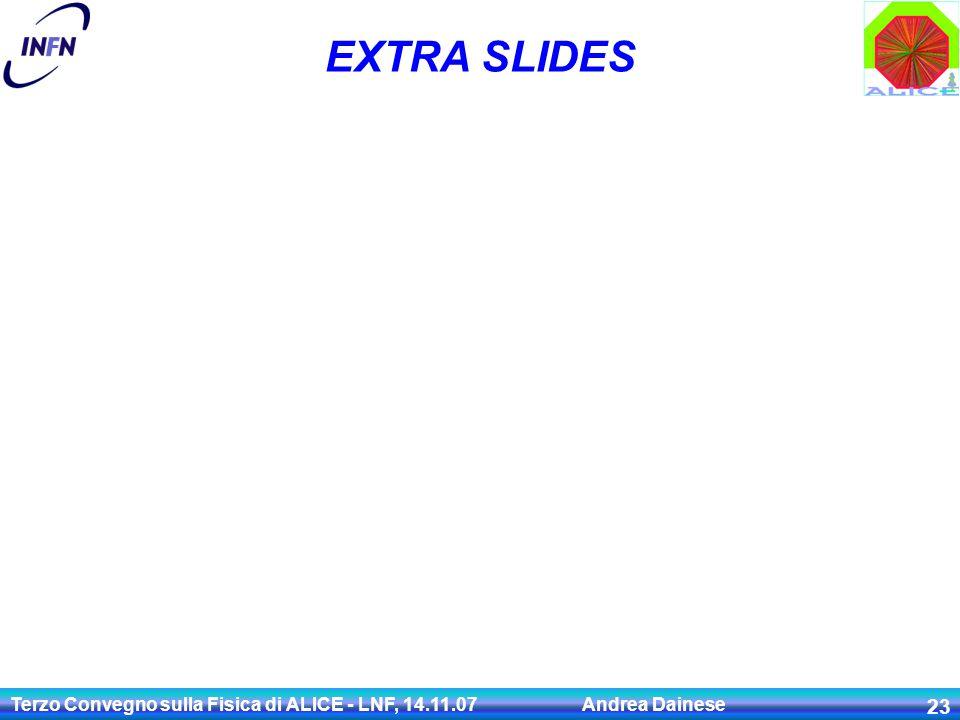 Terzo Convegno sulla Fisica di ALICE - LNF, 14.11.07 Andrea Dainese 23 EXTRA SLIDES