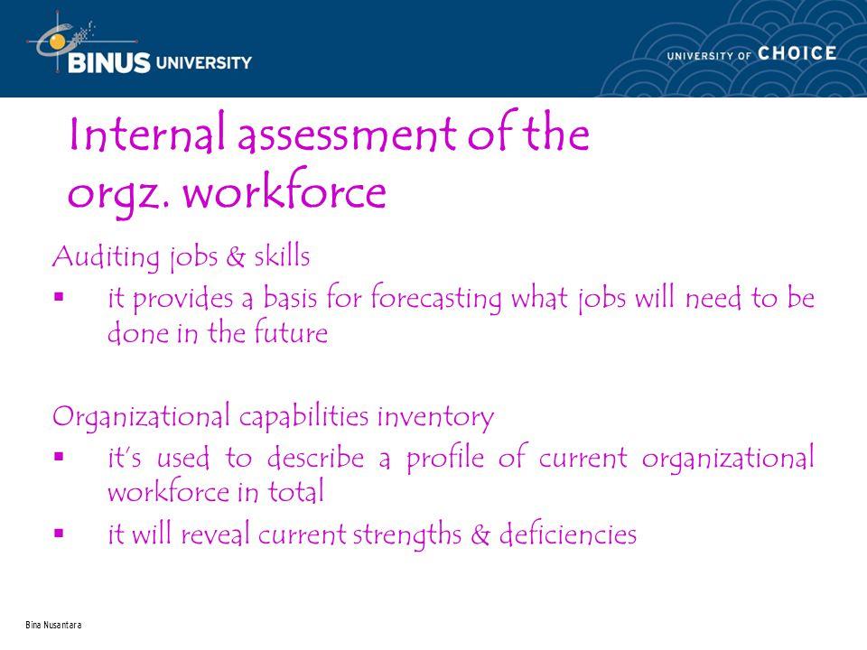 Bina Nusantara Internal assessment of the orgz.