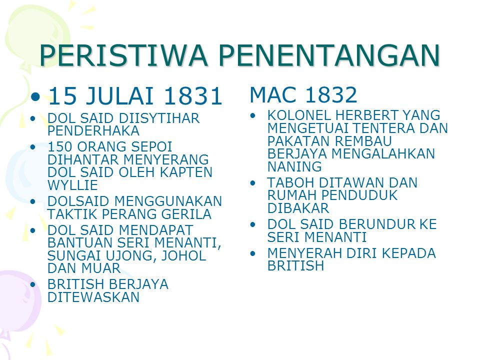  PENGENALAN PERATURAN PENGHULU – MELARANG PENGHULU MEMBICARAKAN KES JENAYAH  1828, DOL SAID DIBERI AMARAN DILUCUTKAN JAWATAN KERANA MENYELESAIKAN KE