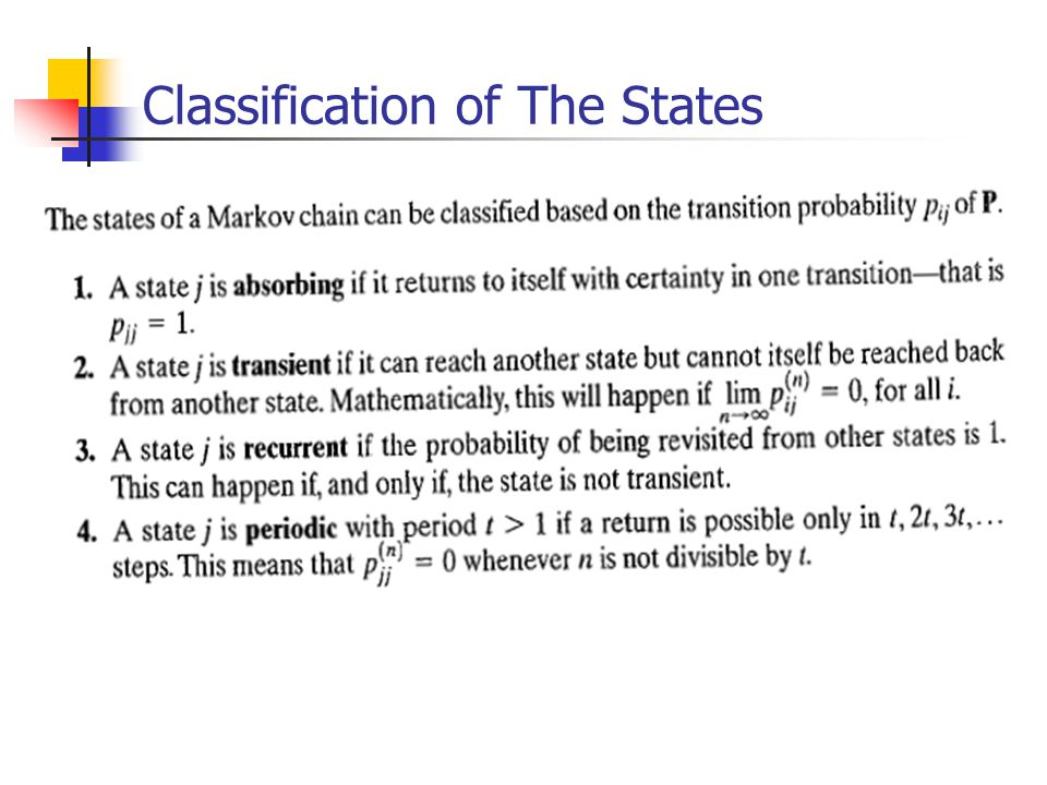 Classification of The States