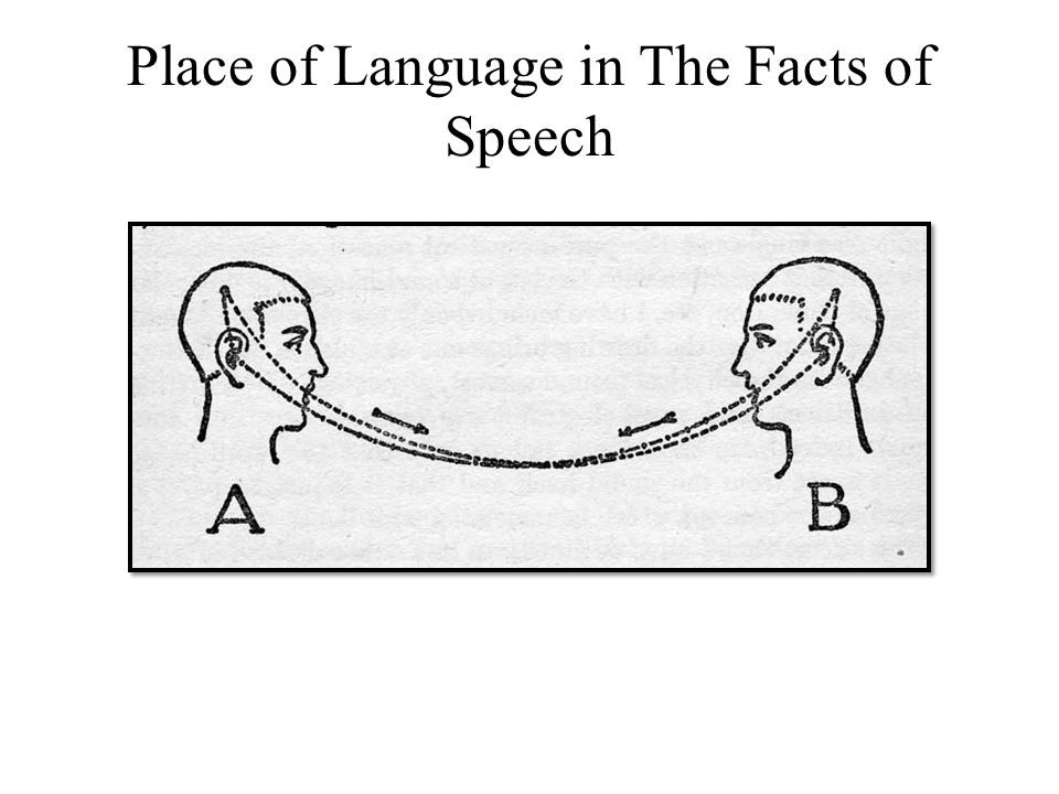 Place of Language in The Facts of Speech