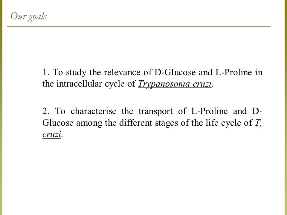 D-Glucose uptake x life cycle stages of T. cruzi