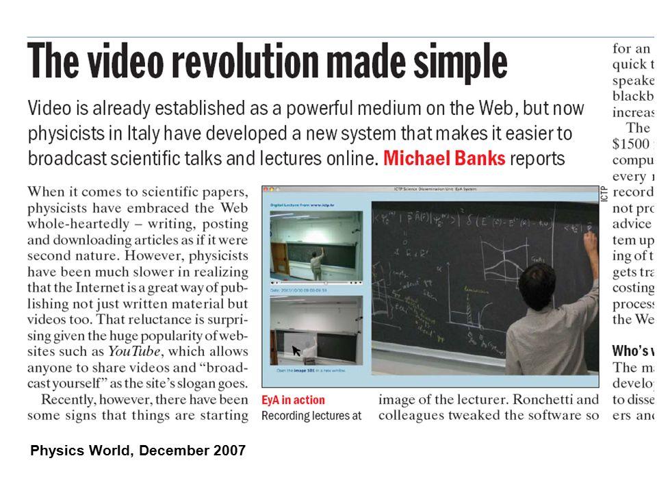 Physics World, December 2007