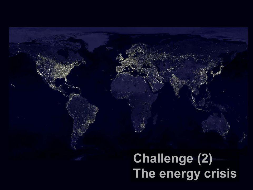 Challenge (2) The energy crisis