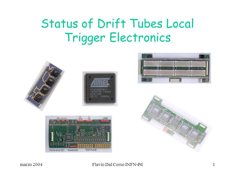 marzo 2004Flavio Dal Corso INFN-Pd1 Status of Drift Tubes Local Trigger Electronics