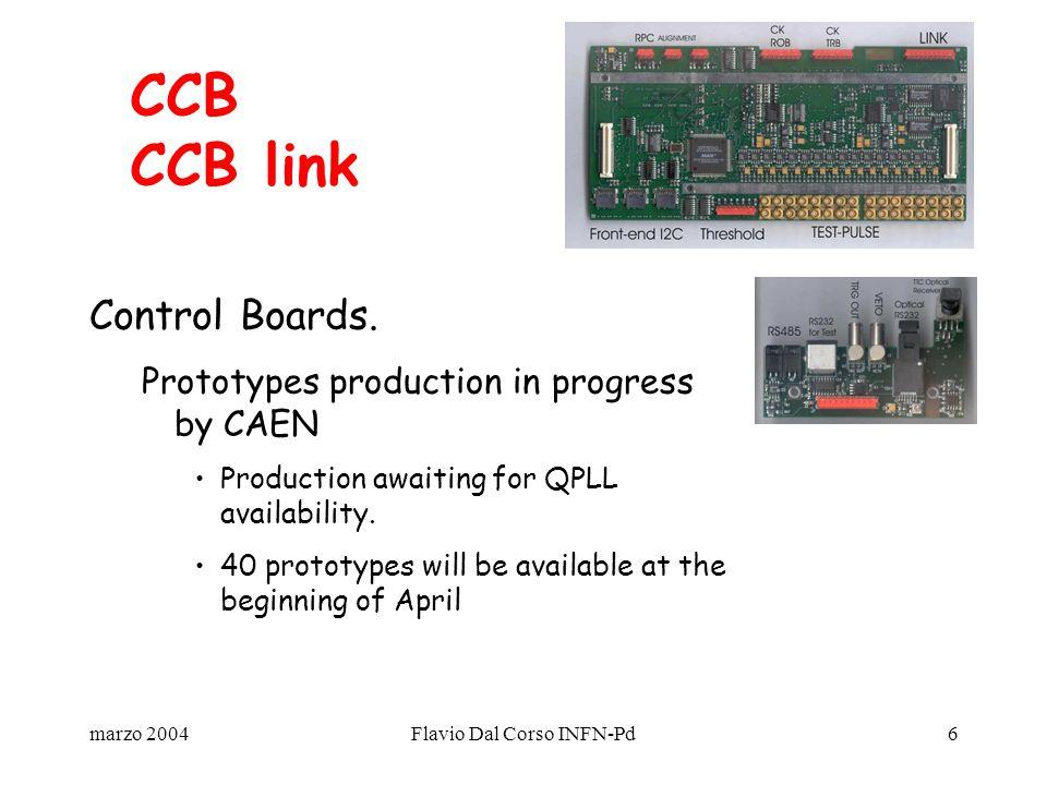 marzo 2004Flavio Dal Corso INFN-Pd6 Control Boards.