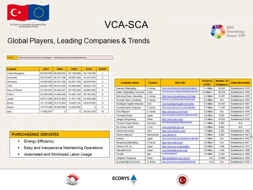 VCA-SCA Global Players, Leading Companies & Trends