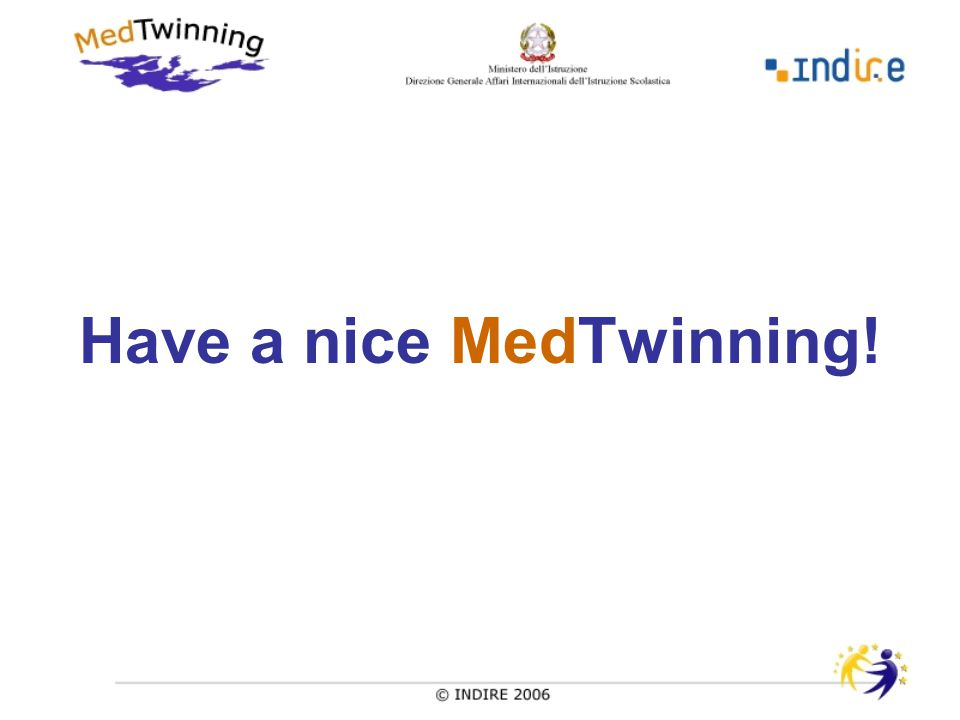 Have a nice MedTwinning!
