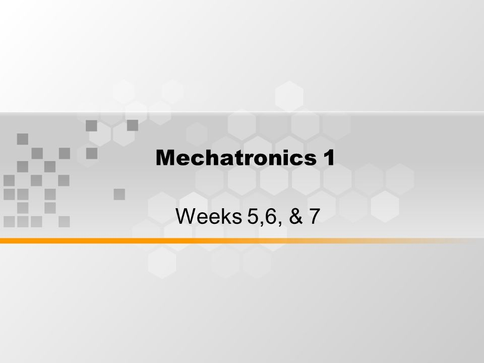 Learning Outcomes By the end of week 5-7 session, students will understand the dynamics of industrial robots.
