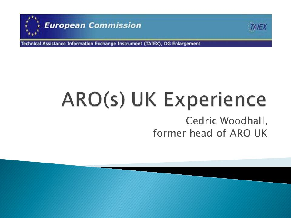Cedric Woodhall, former head of ARO UK