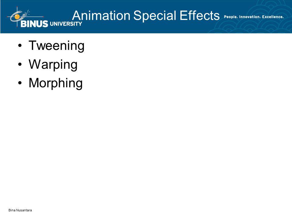 Animation Special Effects Tweening Warping Morphing Bina Nusantara