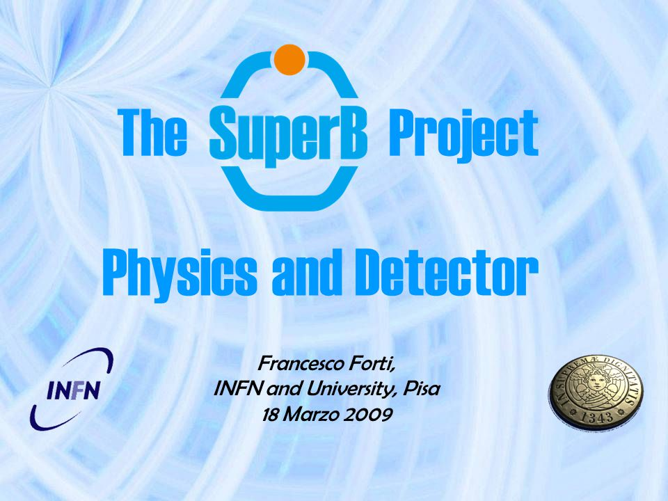 The Project Francesco Forti, INFN and University, Pisa 18 Marzo 2009 Physics and Detector