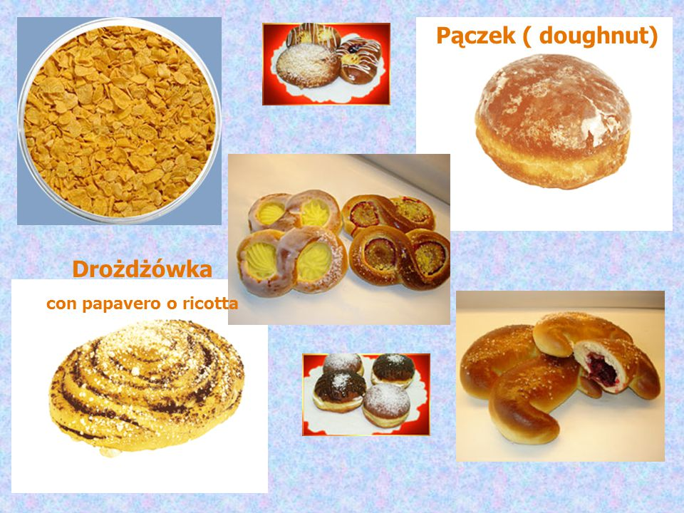 Pączek ( doughnut) Drożdżówka con papavero o ricotta