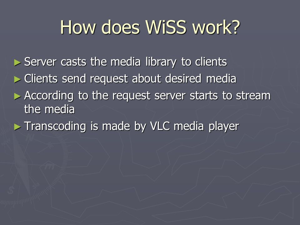 How does WiSS work.