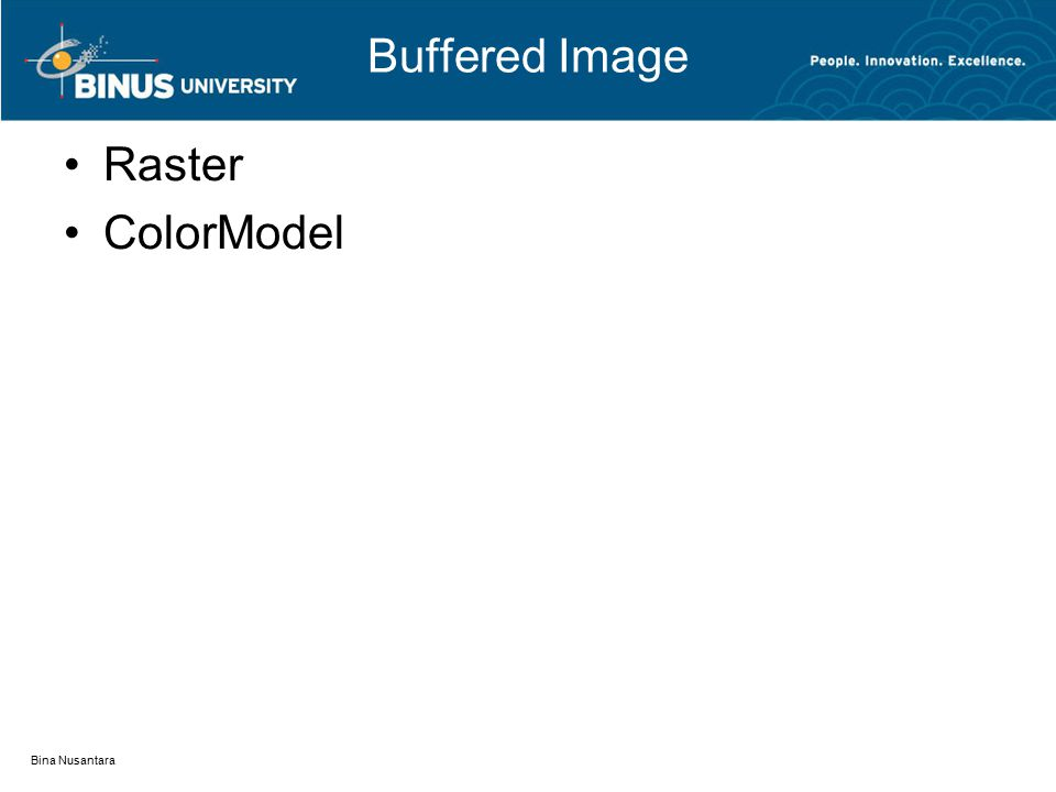 Buffered Image Raster ColorModel Bina Nusantara