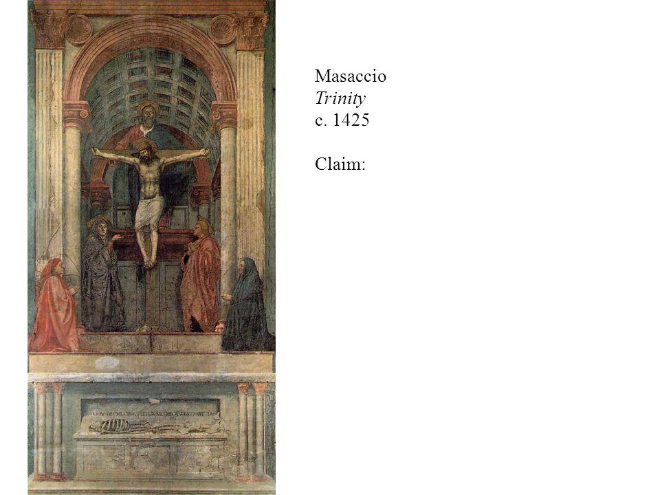 Fra Angelico Annunciation (cell 3) 1440-42 fresco, 176 x 148 cm Convento di San Marco, Florence Claim: