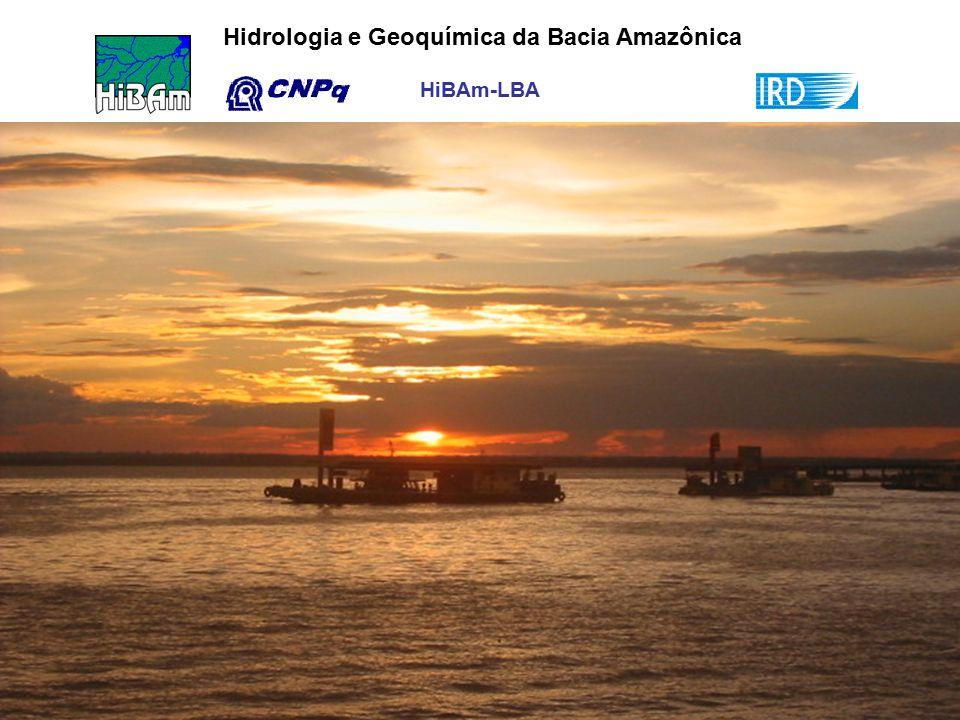 HiBAm-LBA Hidrologia e Geoquímica da Bacia Amazônica Por do Sol no rio Negro, Manaus AM – 10 de abril, 2004 (Foto, Maurrem Vieira).