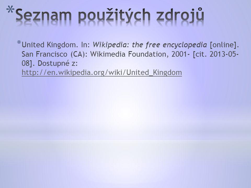 * United Kingdom. In: Wikipedia: the free encyclopedia [online].