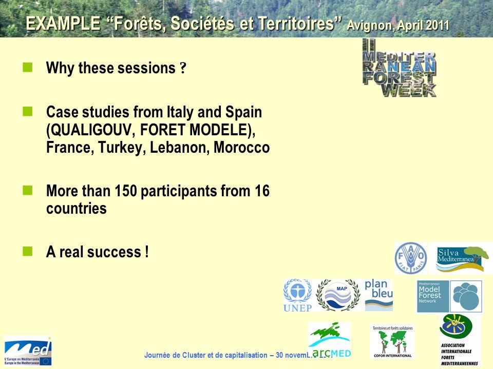 Journée de Cluster et de capitalisation – 30 novembre 2011 Why these sessions .