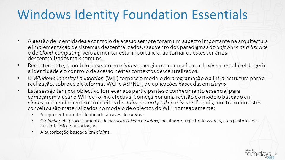 A gestão de identidades e controlo de acesso sempre foram um aspecto importante na arquitectura e implementação de sistemas descentralizados.