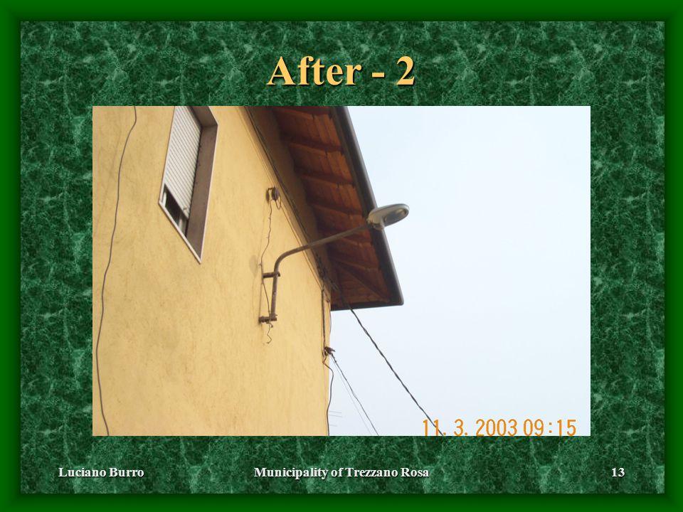 Luciano BurroMunicipality of Trezzano Rosa13 After - 2