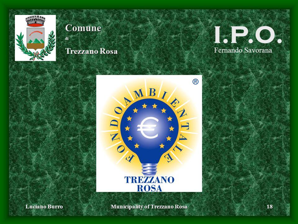 Luciano BurroMunicipality of Trezzano Rosa18 Fernando Savorana Comunedi Trezzano Rosa I.P.O.