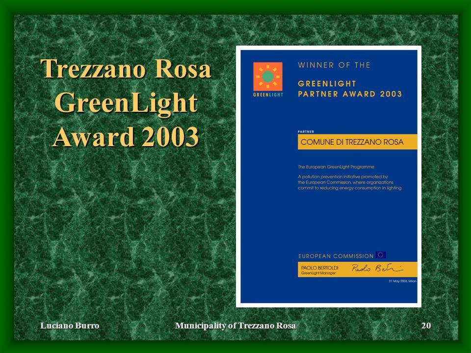 Luciano BurroMunicipality of Trezzano Rosa20 Trezzano Rosa GreenLight Award 2003