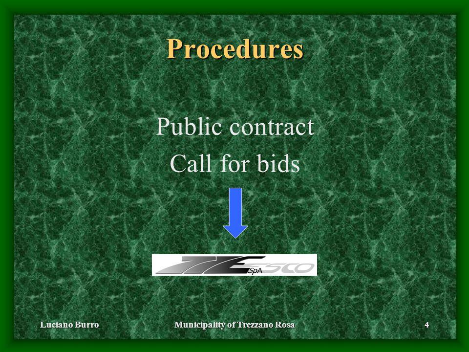 Luciano BurroMunicipality of Trezzano Rosa4 Procedures Public contract Call for bids