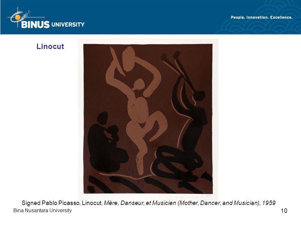 Bina Nusantara University 10 Linocut Signed Pablo Picasso, Linocut, Mère, Danseur, et Musicien (Mother, Dancer, and Musician), 1959