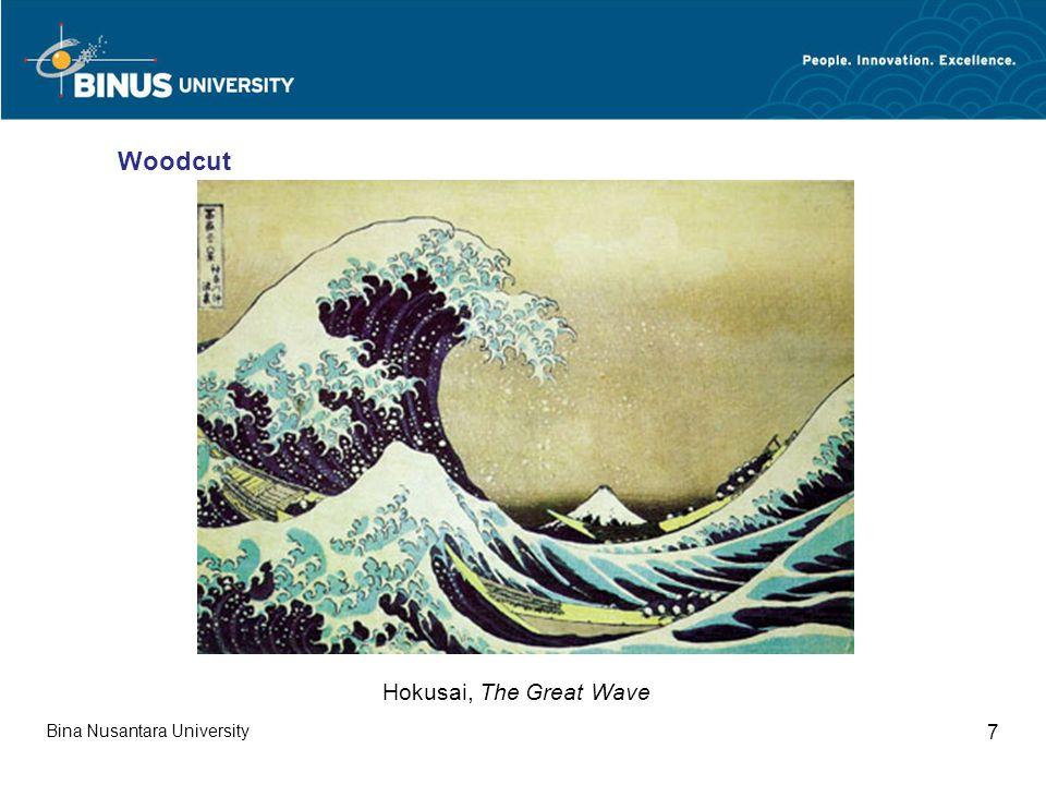 Bina Nusantara University 7 Woodcut Hokusai, The Great Wave
