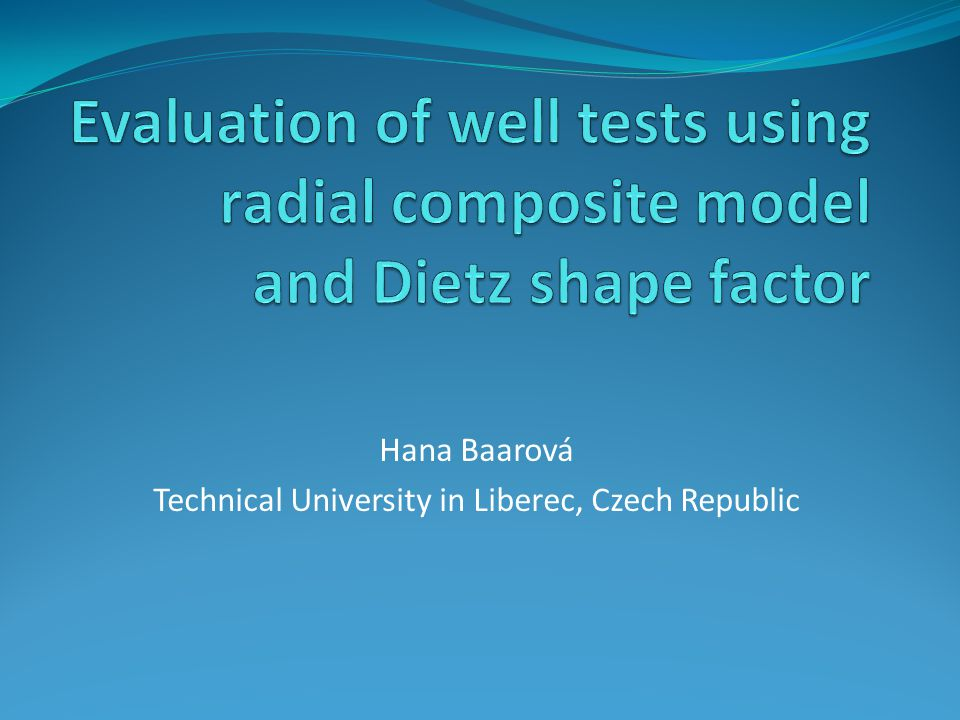 1.Introduction Purpose of well testing 2.