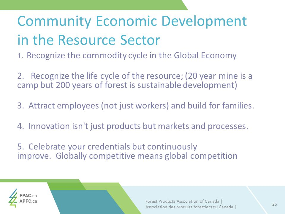 Community Economic Development in the Resource Sector 1.