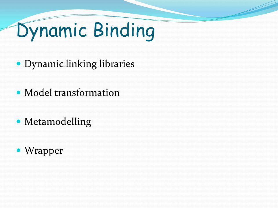 Dynamic Binding Dynamic linking libraries Model transformation Metamodelling Wrapper