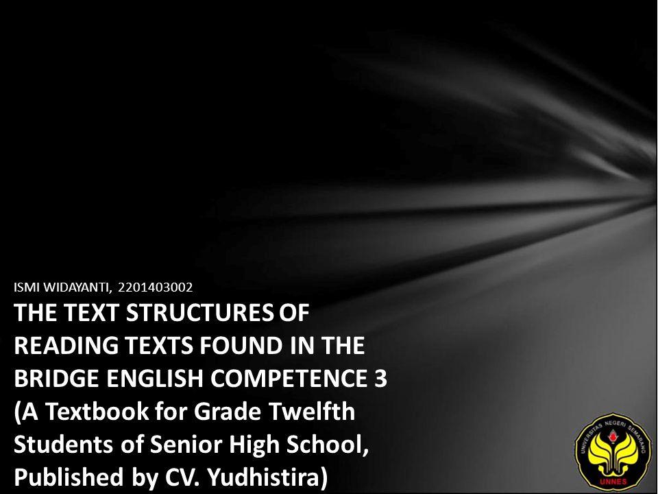 Identitas Mahasiswa - NAMA : ISMI WIDAYANTI - NIM : 2201403002 - PRODI : Pendidikan Bahasa Inggris - JURUSAN : BAHASA & SASTRA INGGRIS - FAKULTAS : Bahasa dan Seni - EMAIL : izmi_QT pada domain yahoo.com - PEMBIMBING 1 : Drs.