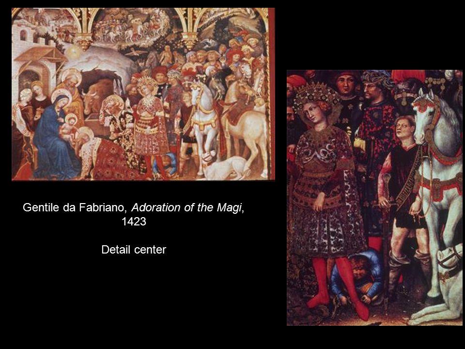 Gentile da Fabriano, Adoration of the Magi, 1423 Detail center