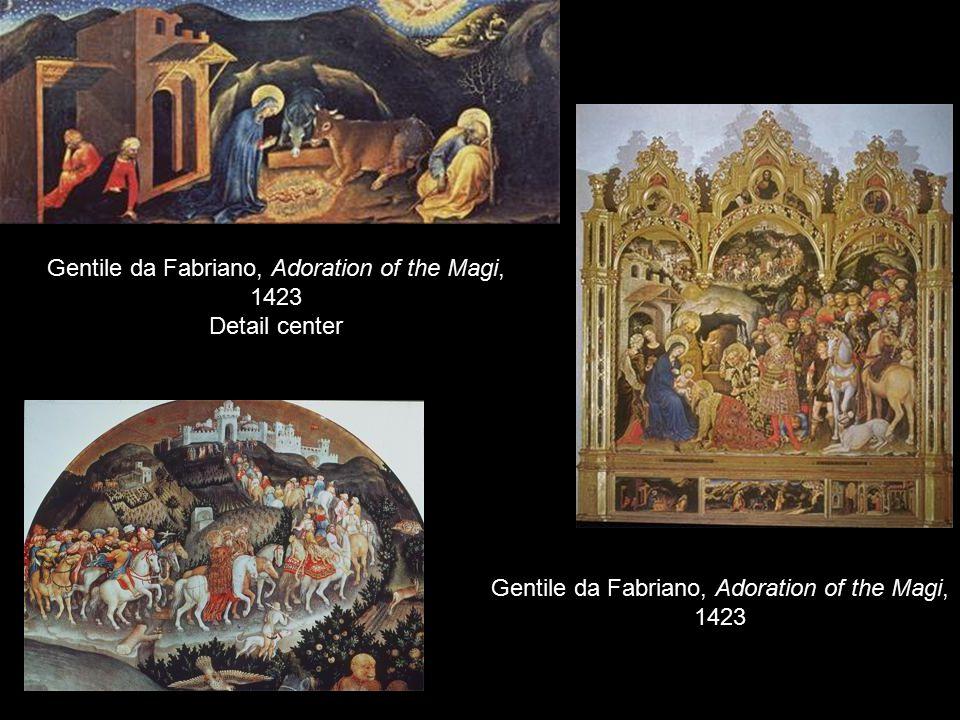 Gentile da Fabriano, Adoration of the Magi, 1423 Detail center Gentile da Fabriano, Adoration of the Magi, 1423