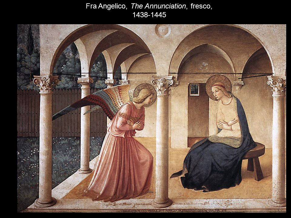 Fra Angelico, The Annunciation, fresco, 1438-1445